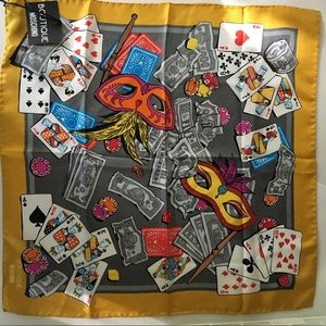 NWT Moschino Boutique Poker Game Square Silk Scarf